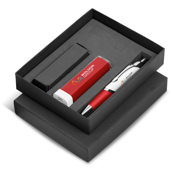 Omega Nine Gift Set 2200mAh - Red Only Corporate gifts