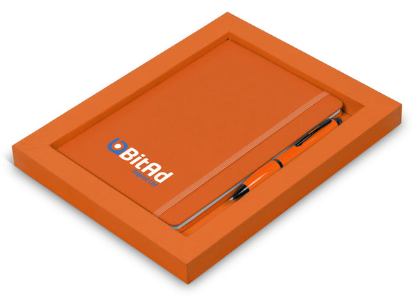 Omega Notebook Gift Set - Orange Only Corporate gifts