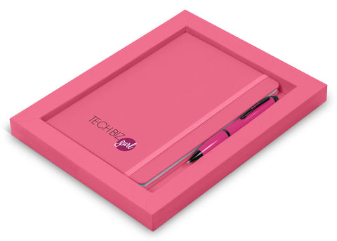 Omega Notebook Gift Set - Pink Only Corporate gifts