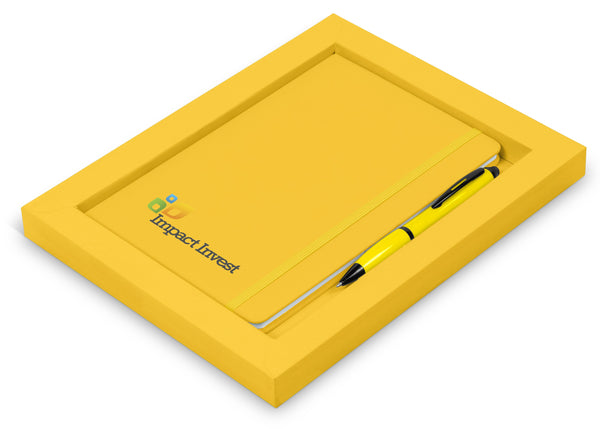 Omega Notebook Gift Set - Yellow Only Corporate gifts