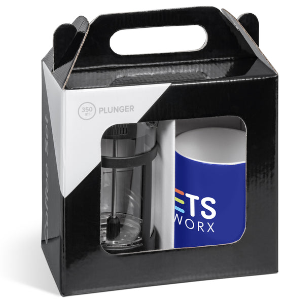 Cafe Omega Coffee Set - Navy Only Corporate gifts