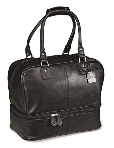 Gary Player Leather Double Decker Bag - Black Only Corporate gifts