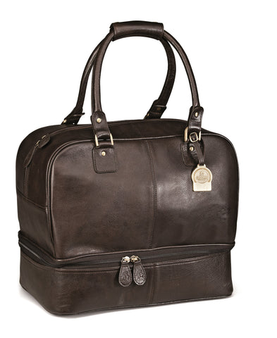 Gary Player Leather Double Decker Bag - Brown Only Corporate gifts