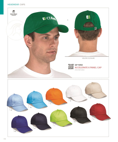 Accelerate 6 Panel Cap Corporate gifts