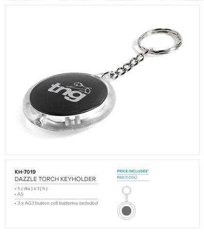 Dazzle Torch Keyholder Corporate gifts