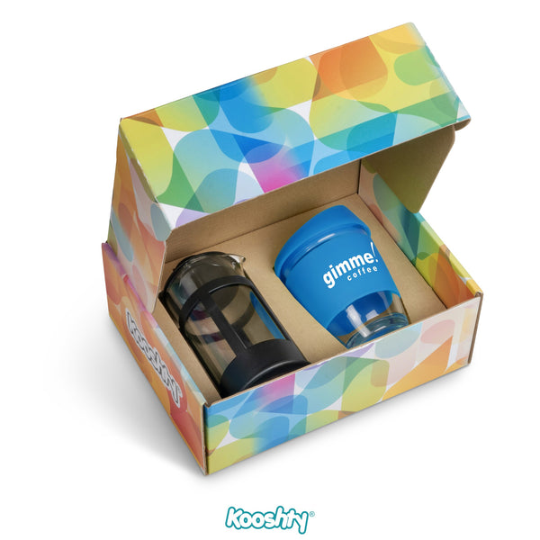 Kooshty Kupper Set With Black Plunger - Cyan Only Corporate gifts