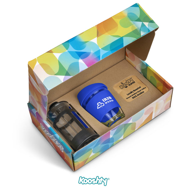 Kooshty Brew Koffee Set With Black Plunger - Blue Only Corporate gifts