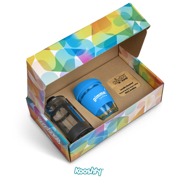 Kooshty Brew Koffee Set With Black Plunger - Cyan Only Corporate gifts