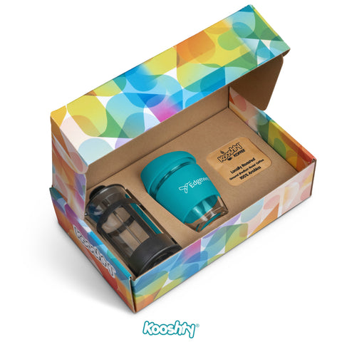 Kooshty Brew Koffee Set With Black Plunger - Turquoise Only Corporate gifts