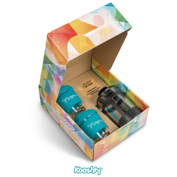 Kooshty Deluxe Koffee Set With Black Plunger - Turquoise Only Corporate gifts