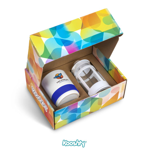 Kooshty Kaleido Koffee Set - Blue Only Corporate gifts