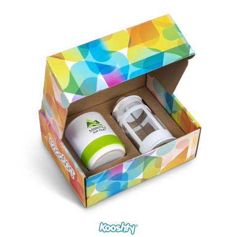 Kooshty Kaleido Koffee Set - Lime Only Corporate gifts