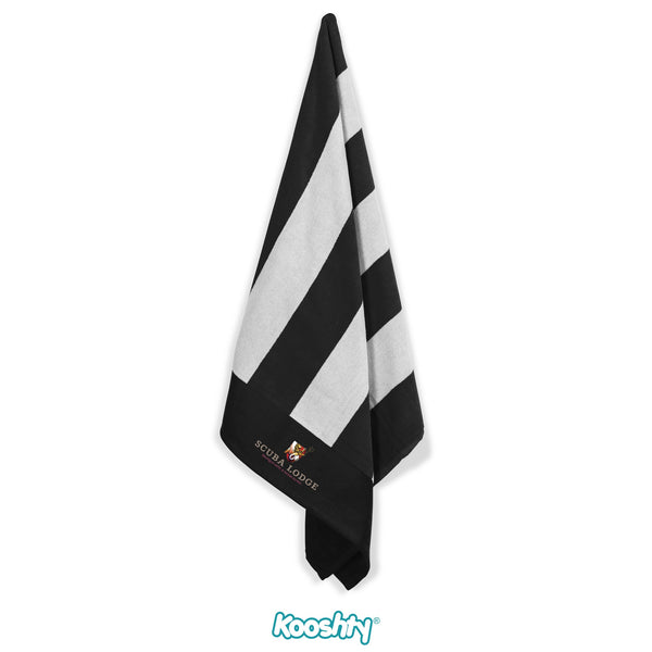Kooshty Mykonos Beach Towel - Black Only Corporate gifts