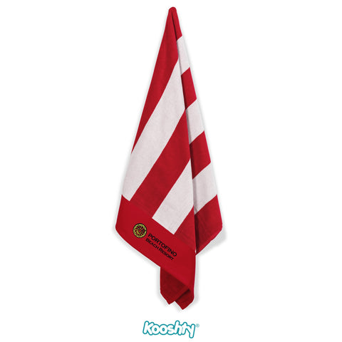Kooshty Mykonos Beach Towel - Red Only Corporate gifts