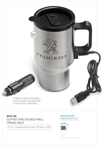 Coffee-Time Double-Wall Travel Mug - 450ml Corporate gifts
