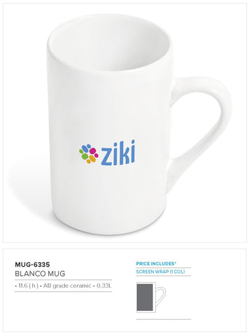 Blanco Mug (Bulk Packed) - 330ml Corporate gifts