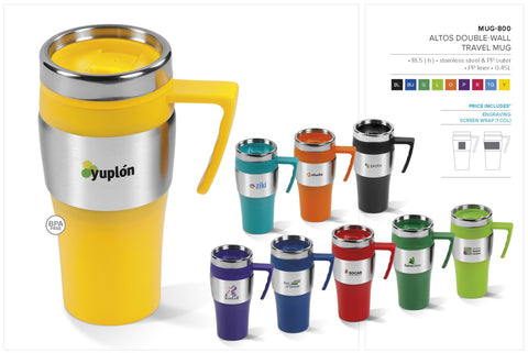 Altos Double-Wall Travel Mug - 450ml Corporate gifts