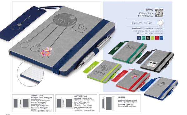 Colourblock A5 Notebook Corporate gifts