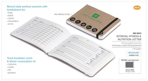 Interval Fitness & Nutrition Jotter Corporate gifts