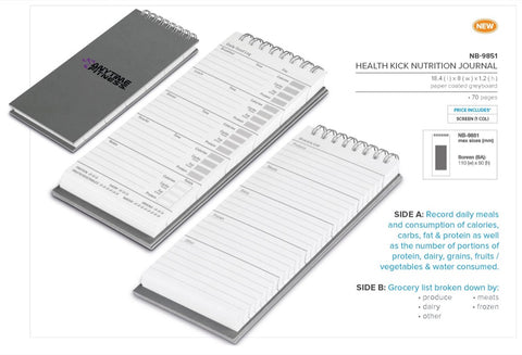 Health Kick Nutrition Journal Corporate gifts