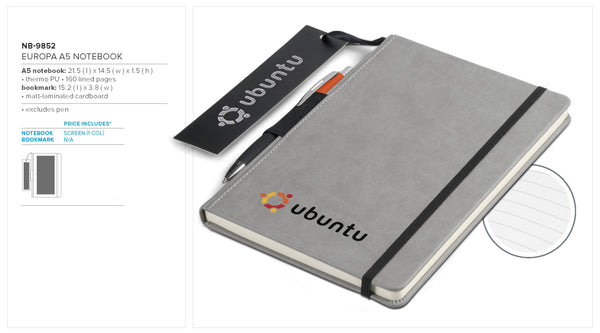 Europa A5 Notebook Corporate gifts