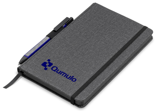 Vulcan A5 Fabric Notebook Set - Blue Only Corporate gifts