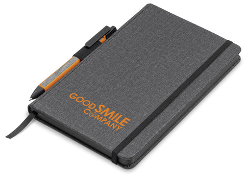 Vulcan A5 Fabric Notebook Set - Orange Only Corporate gifts
