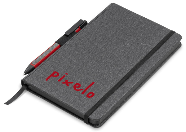 Vulcan A5 Fabric Notebook Set - Red Only Corporate gifts