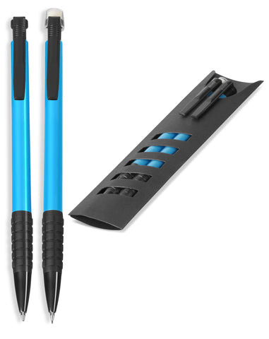 Maui Ball Pen & Clutch Pencil Set - Cyan Only Corporate gifts