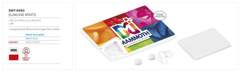 Slimline Mints Corporate gifts