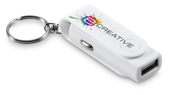 Rotary Usb Car Charger Keyholder Corporate gifts