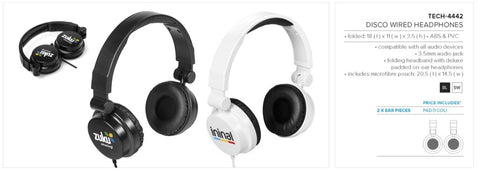 Disco Wired Headphones Corporate gifts