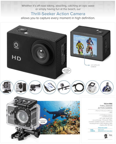 Thrill-Seeker Action Camera Corporate gifts