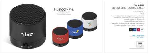 Boost Bluetooth Speaker Corporate gifts