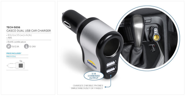 Casco Dual USB Car Charger Corporate gifts