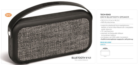 Onyx Bluetooth Speaker Corporate gifts