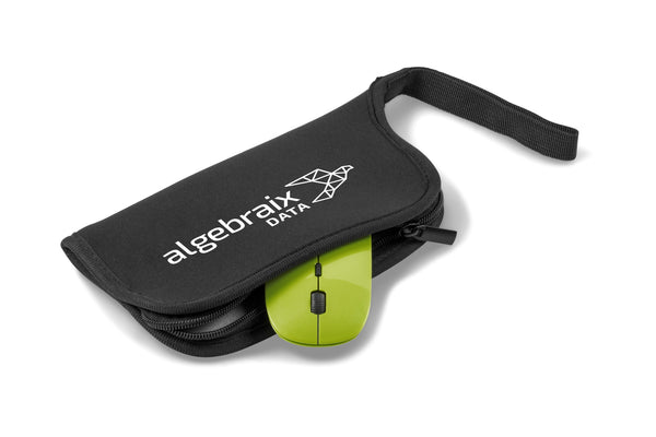 Omega Wireless Optical Mouse & Mousepad - Lime Only Corporate gifts