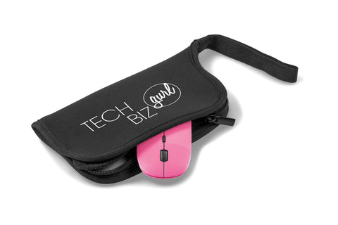 Omega Wireless Optical Mouse & Mousepad - Pink Only Corporate gifts