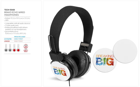 Bravo Echo Wired Headphones Corporate gifts