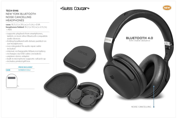 Swiss Cougar New York Bluetooth Noise-Cancelling Headphones Corporate gifts