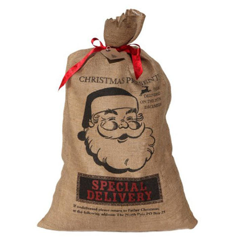 Baby+child - Hessian Xmas Sack - Father Xmas