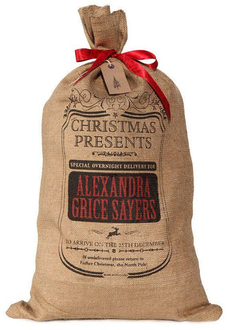 Hessian Xmas Sack - Monogram
