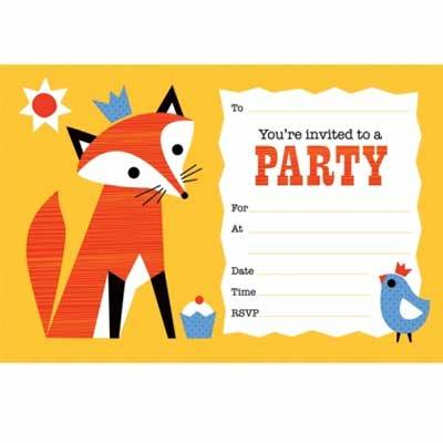 Baby+child - Mister Fox Party Invitations