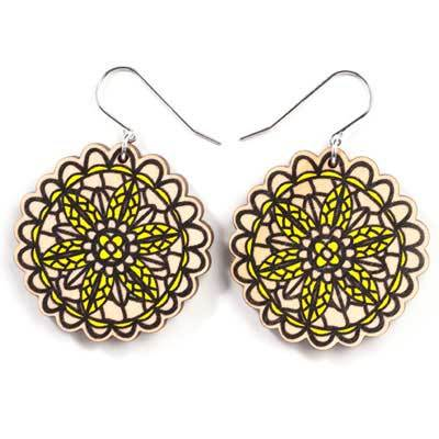 Jewellery - Wooden Doily Earrings