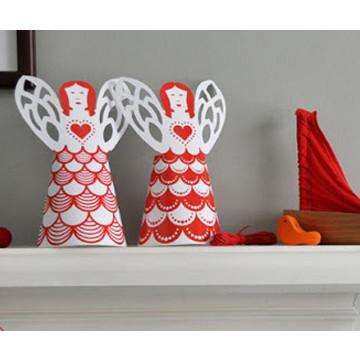 Living - Xmas Angel Kit (Set Of 5 Red)