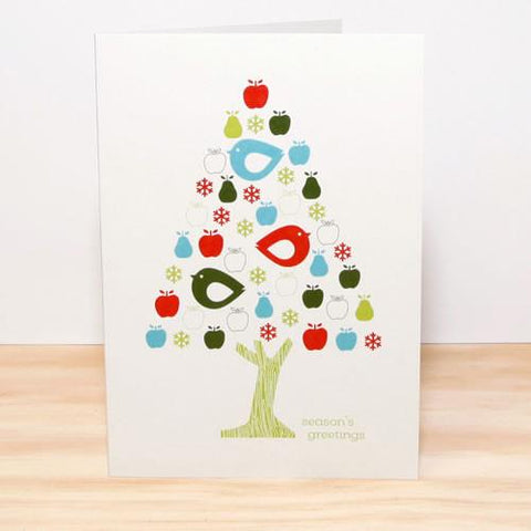 Stationery - Chick Tree Christmas Card