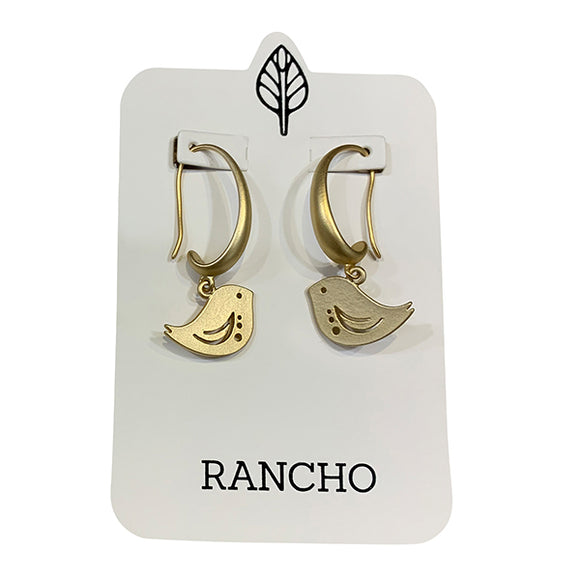 Chunky hook birds earrings