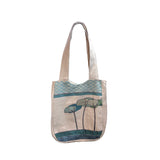 Three trees Linen Shoulder Bags