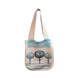 Water colour trees Linen Shoulder Bags