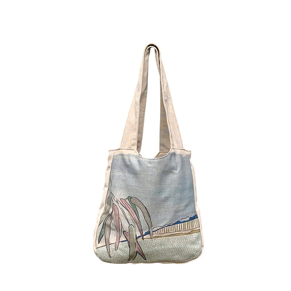 Falling Leaves Linen Shoulder Bags